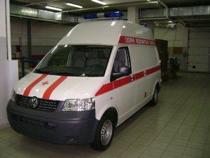 Автомобиль скорой помощи класса B на базе VW Ttansporter, длинная база , высокая и средняя крыша.